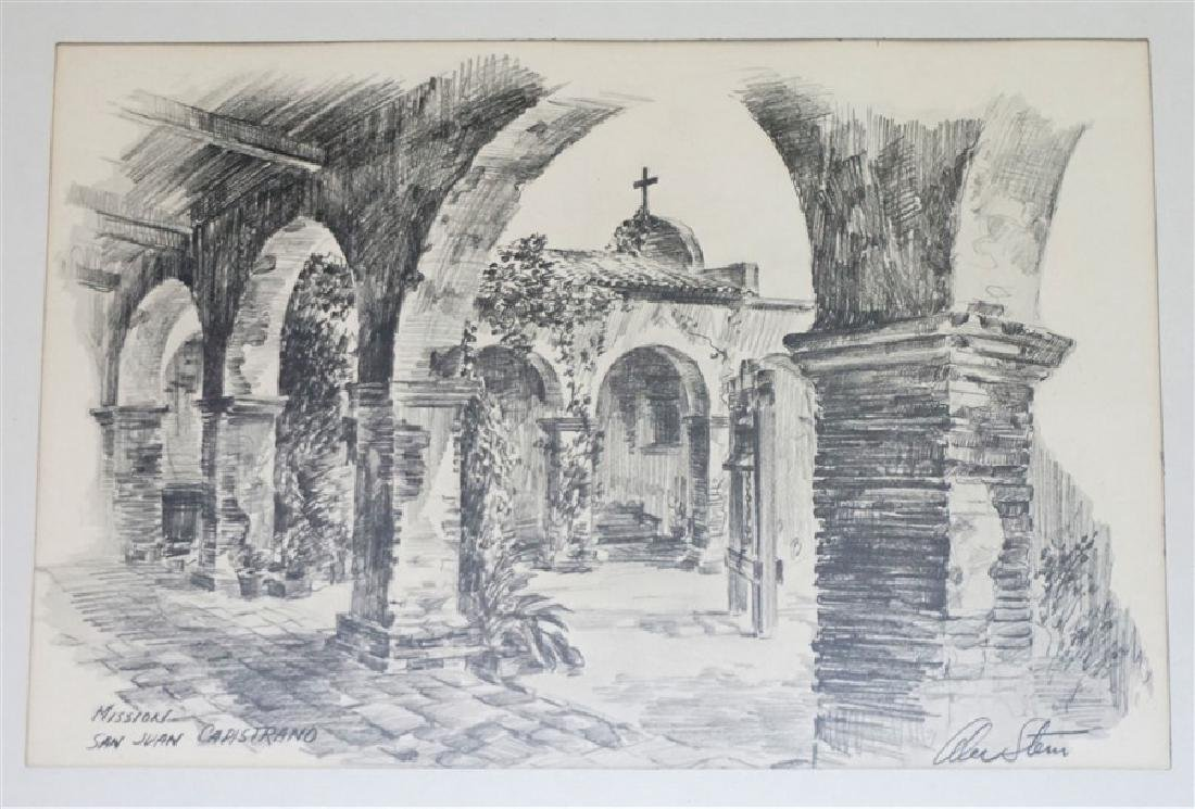 2 ALEC STERN ETCHINGS CALIFORNIA MISSION - 2