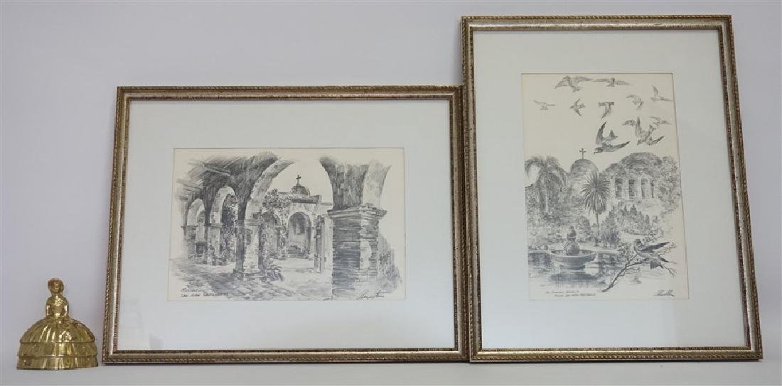 2 ALEC STERN ETCHINGS CALIFORNIA MISSION - 7