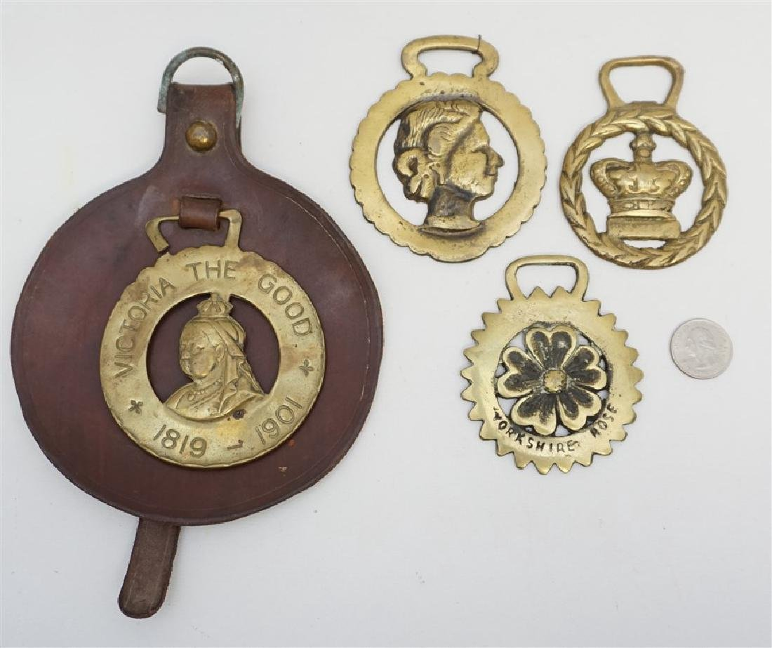 FOUR ENGLISH HORSE BRASSES - 4