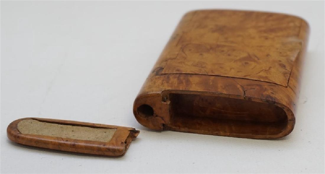RUSSIAN BURL WOOD CIGARETTE CASE - 3