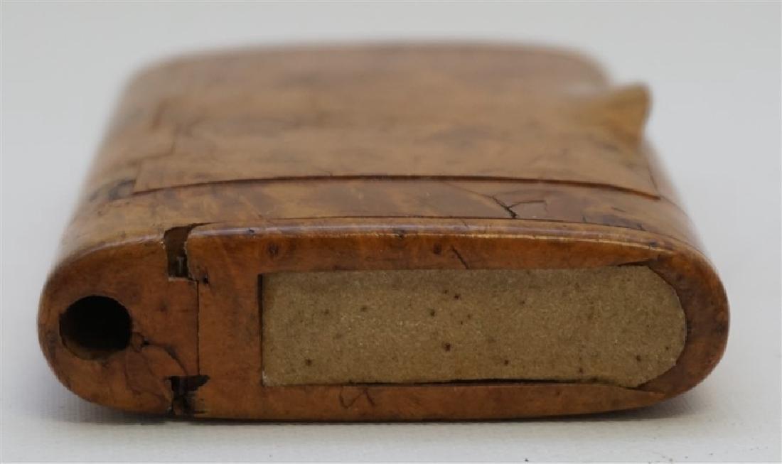 RUSSIAN BURL WOOD CIGARETTE CASE - 4