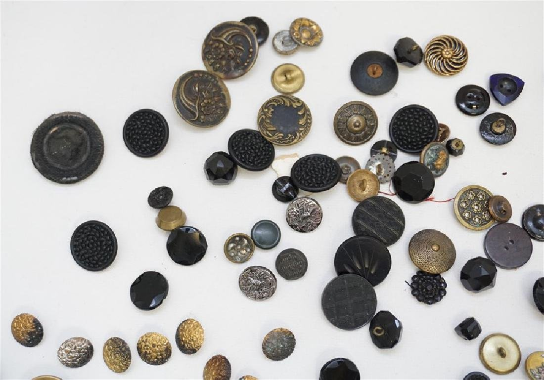 100 VICTORIAN 19th c BUTTONS - 2