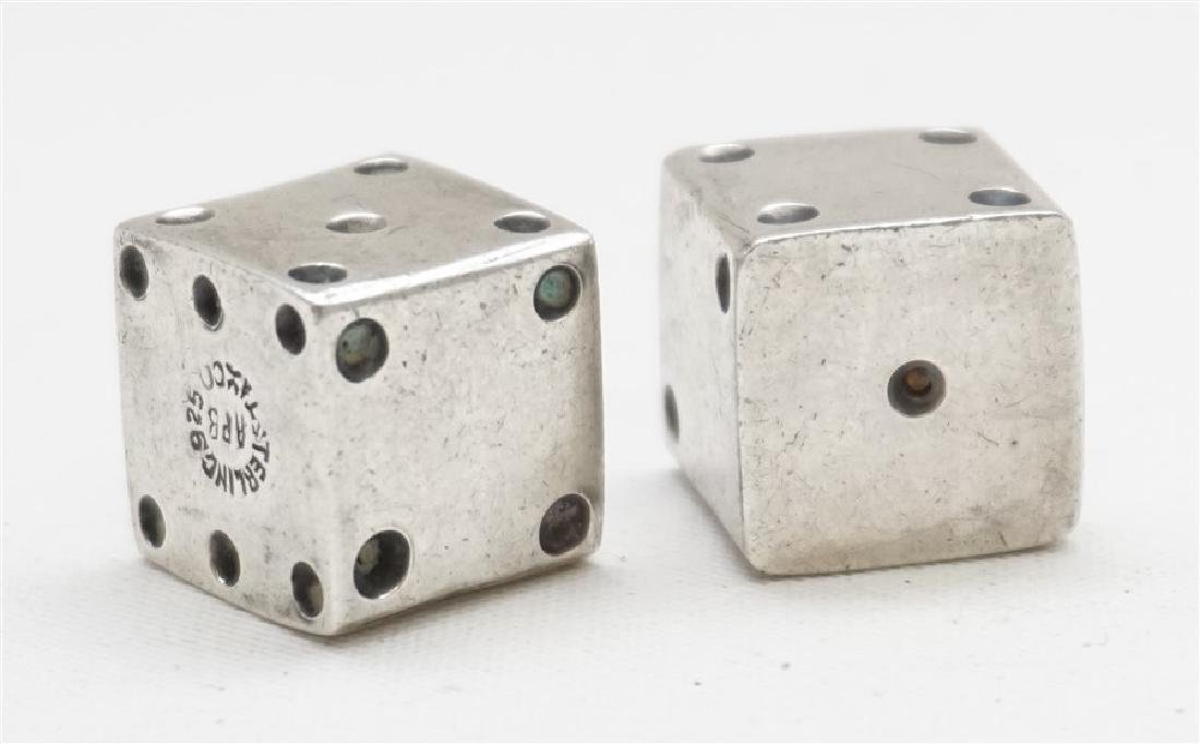 2 STERLING SILVER TAXCO DICE