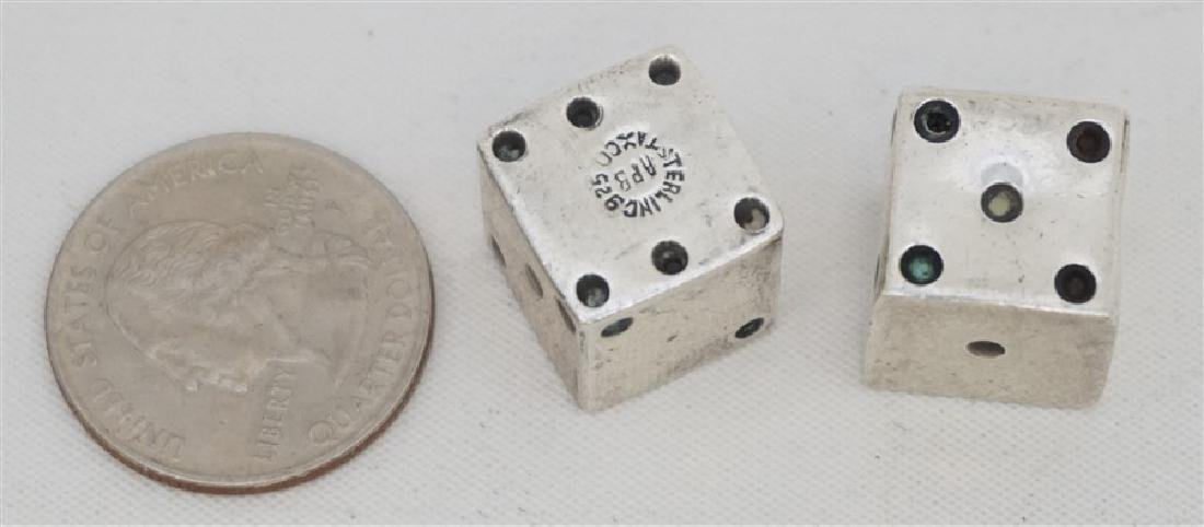 2 STERLING SILVER TAXCO DICE - 5