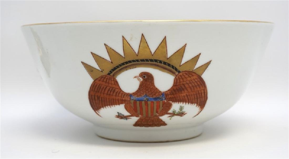 CHINESE EXPORT FEDERAL EAGLE BOWL