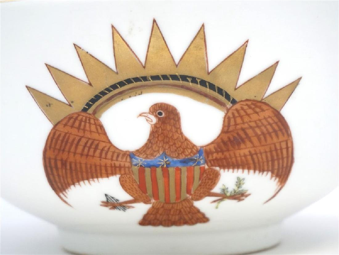 CHINESE EXPORT FEDERAL EAGLE BOWL - 2