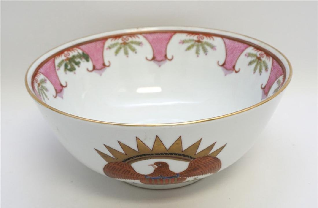 CHINESE EXPORT FEDERAL EAGLE BOWL - 3