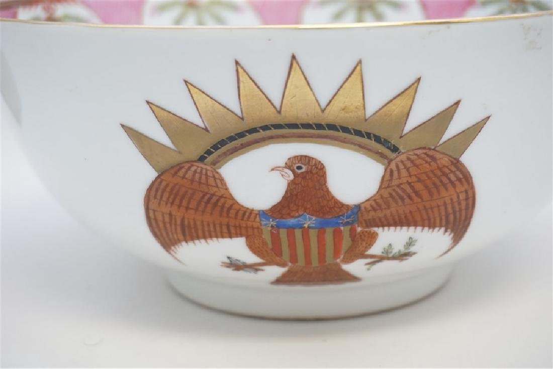 CHINESE EXPORT FEDERAL EAGLE BOWL - 7