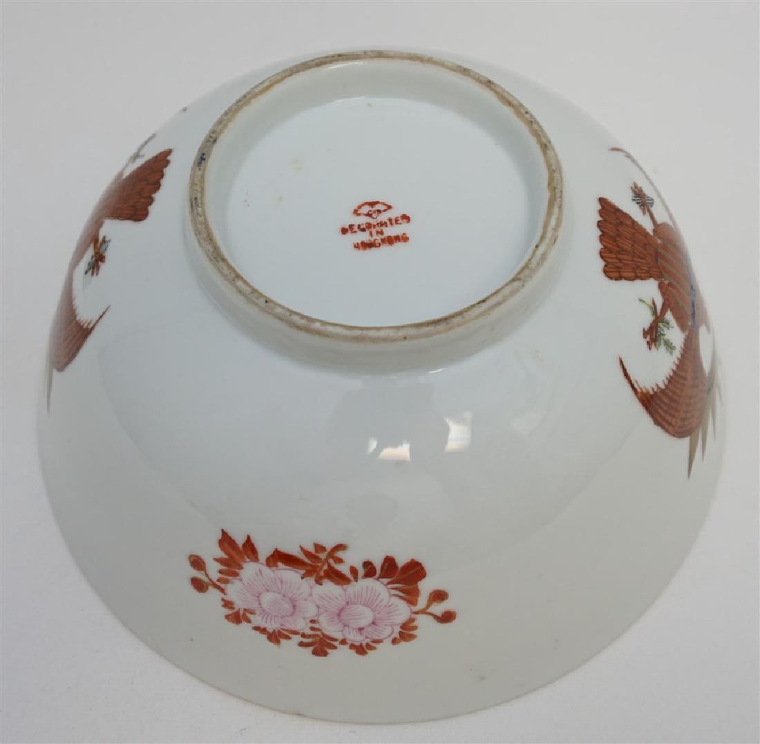 CHINESE EXPORT FEDERAL EAGLE BOWL - 9