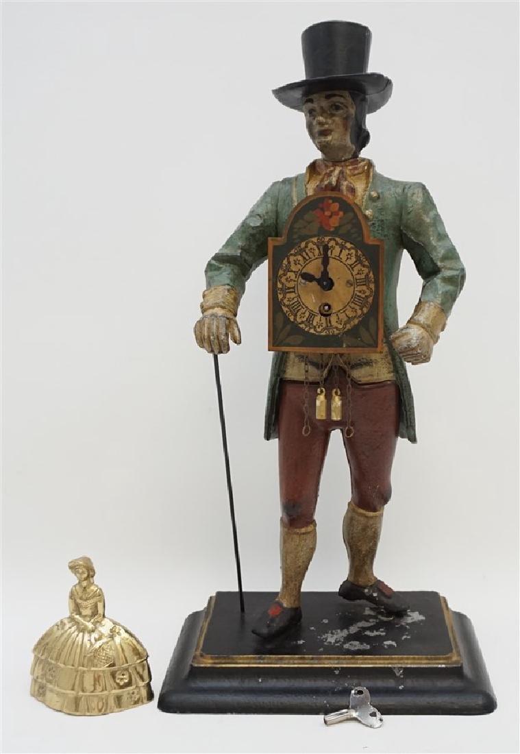 GERMAN WALKING MAN METAL CLOCK - 10
