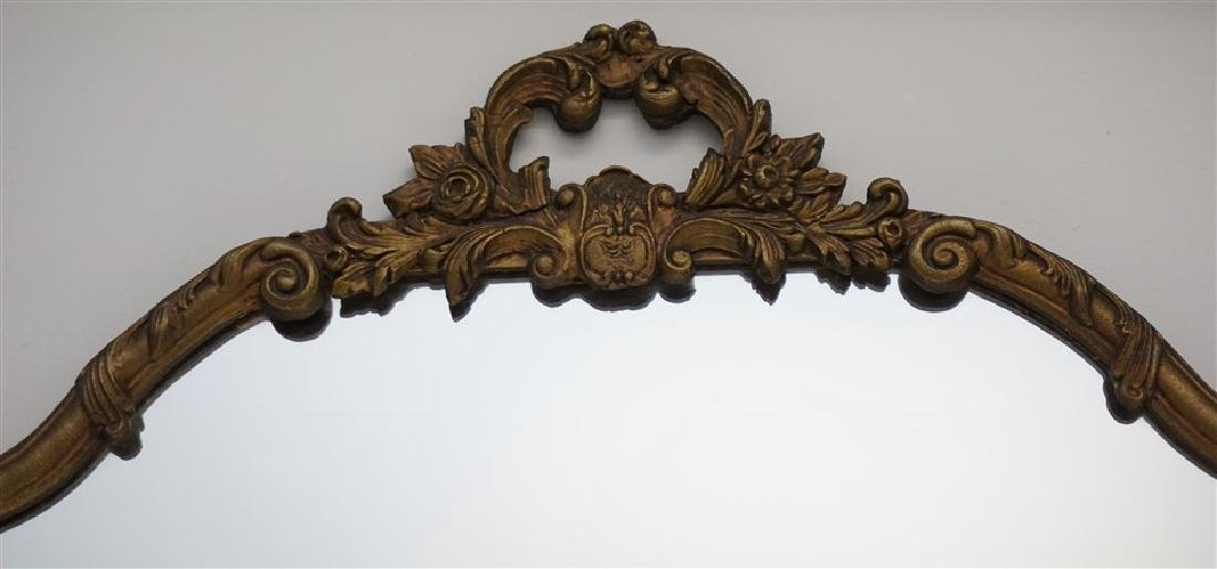 ANTIQUE FRENCH GILT WOOD MIRROR - 2