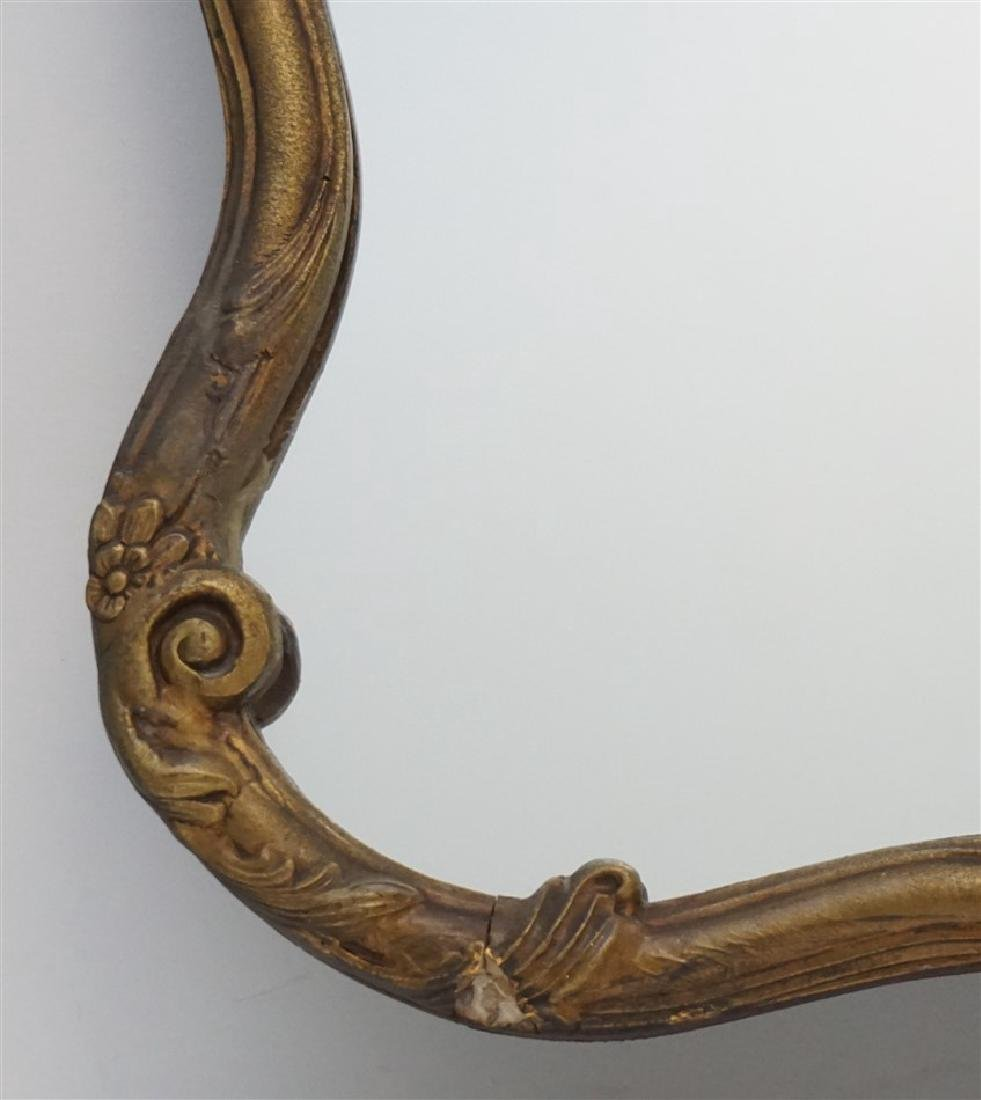 ANTIQUE FRENCH GILT WOOD MIRROR - 3