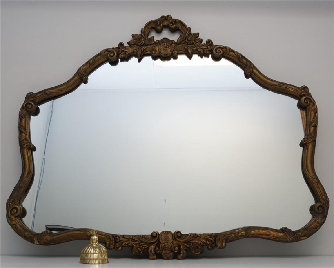 ANTIQUE FRENCH GILT WOOD MIRROR - 4