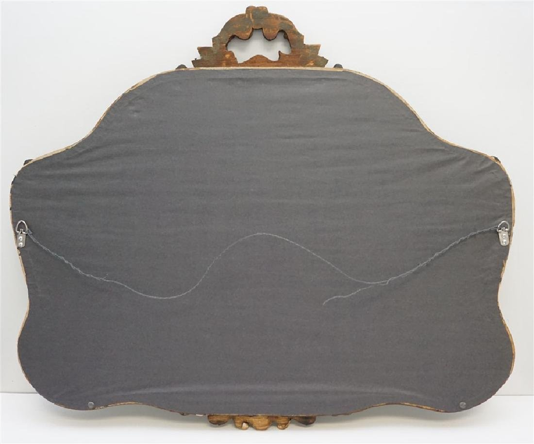 ANTIQUE FRENCH GILT WOOD MIRROR - 8