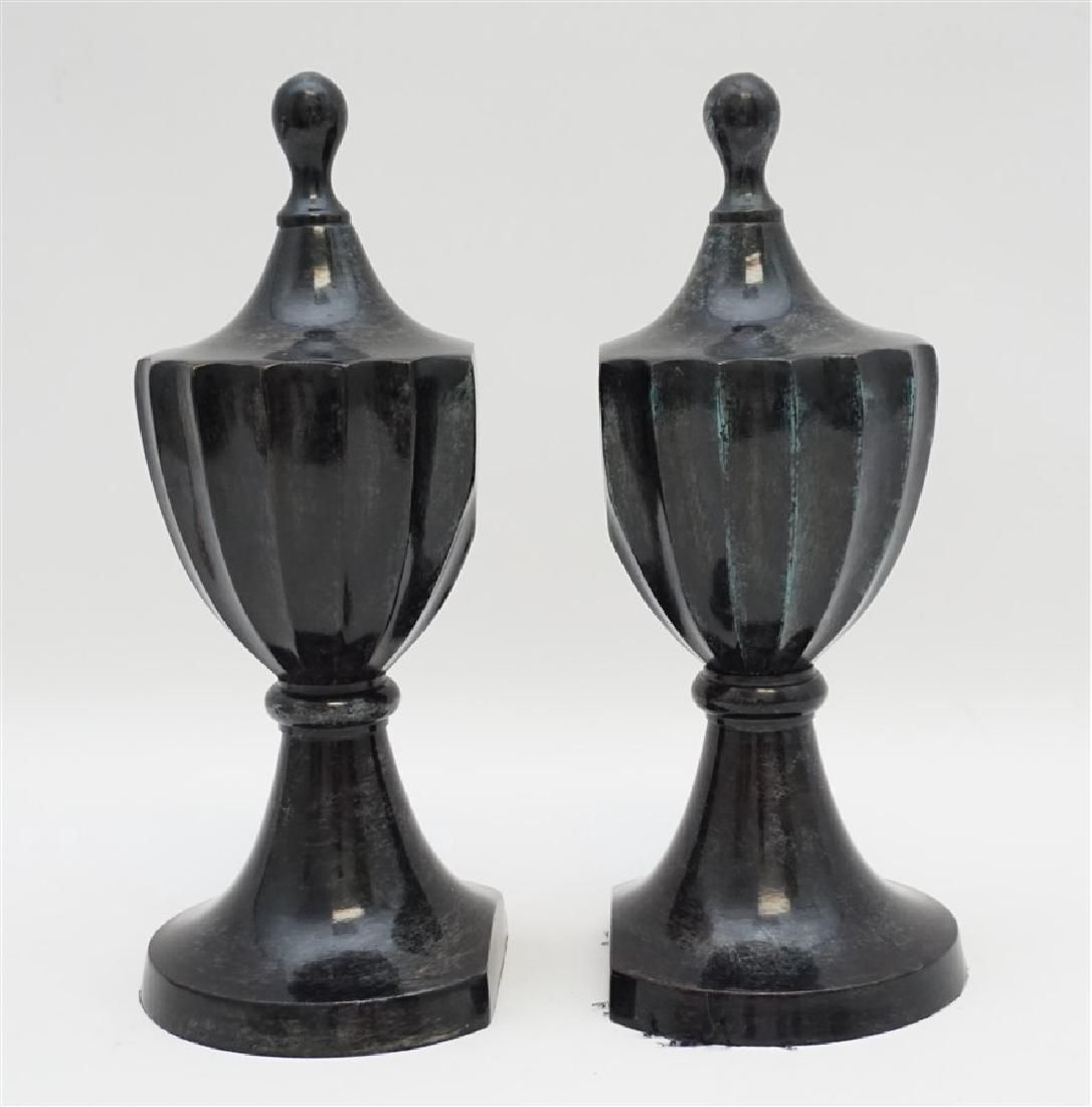 ANTIQUE BRONZE URN BOOKENDS