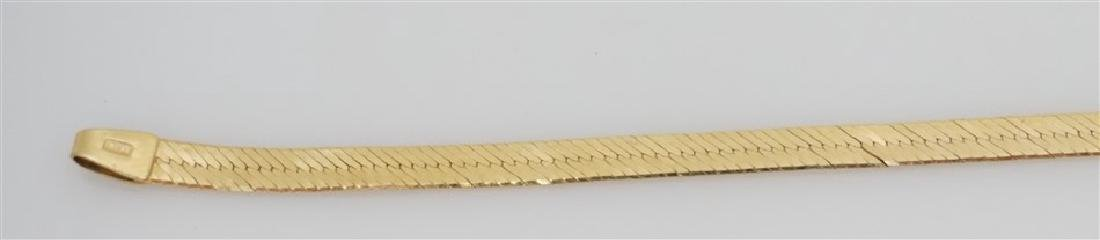 14K YELLOW GOLD HERRINGBONE BRACELET (3.70 GRAMS) - 3