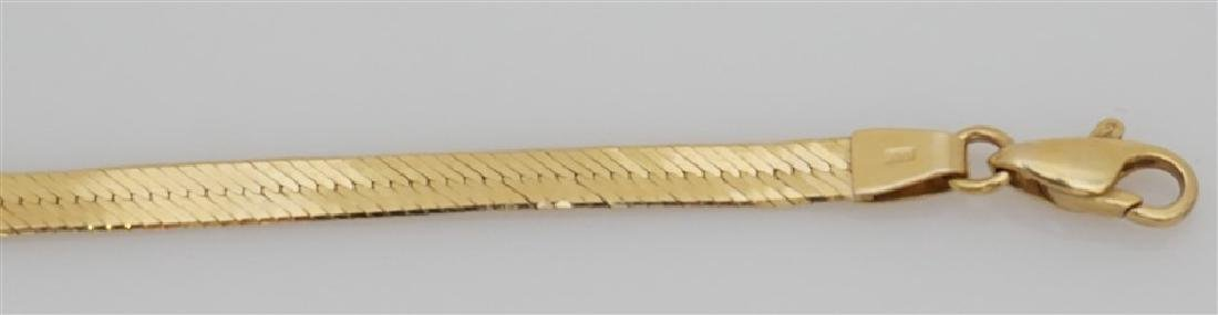 14K YELLOW GOLD HERRINGBONE BRACELET (3.70 GRAMS) - 4