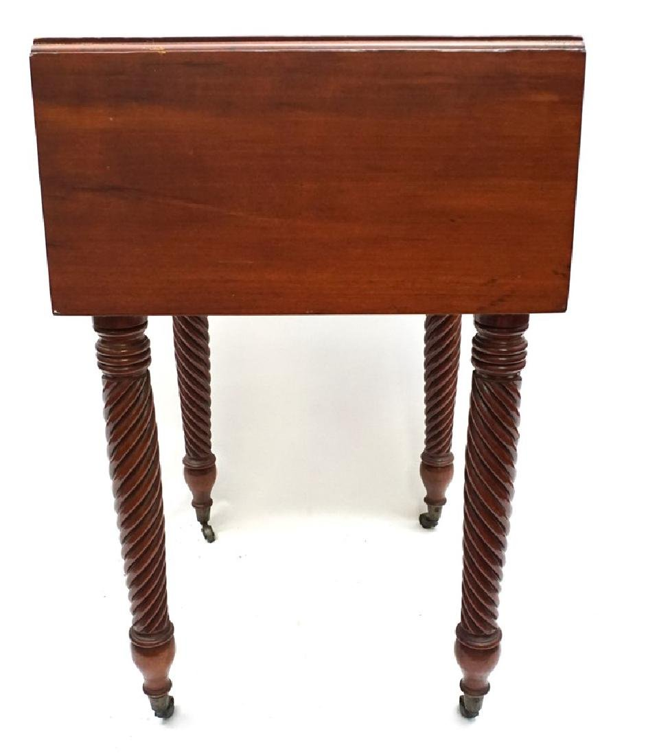 19th c. AMERICAN DROP LEAF WORK TABLE - 10
