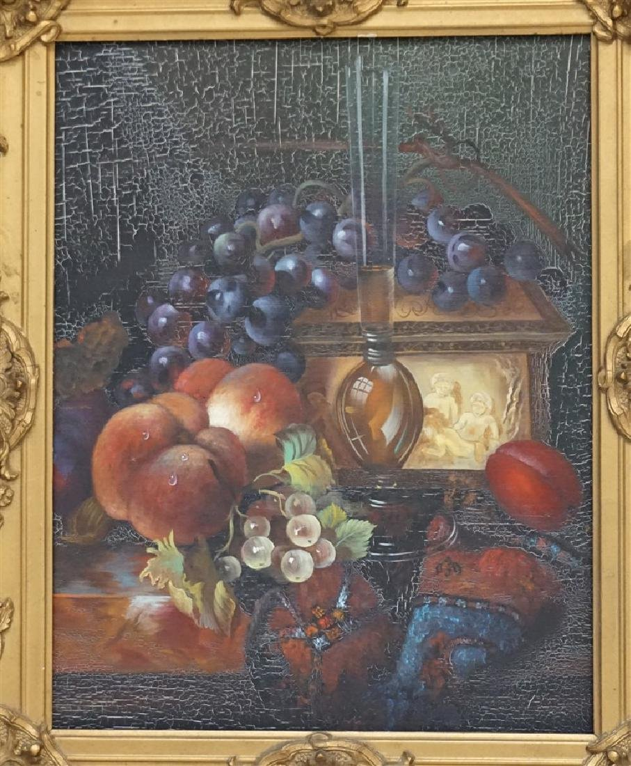 OIL ON CANVAS STILL LIFE FRAMED - 2