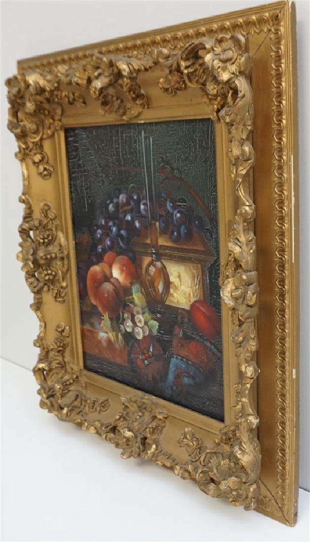 OIL ON CANVAS STILL LIFE FRAMED - 6