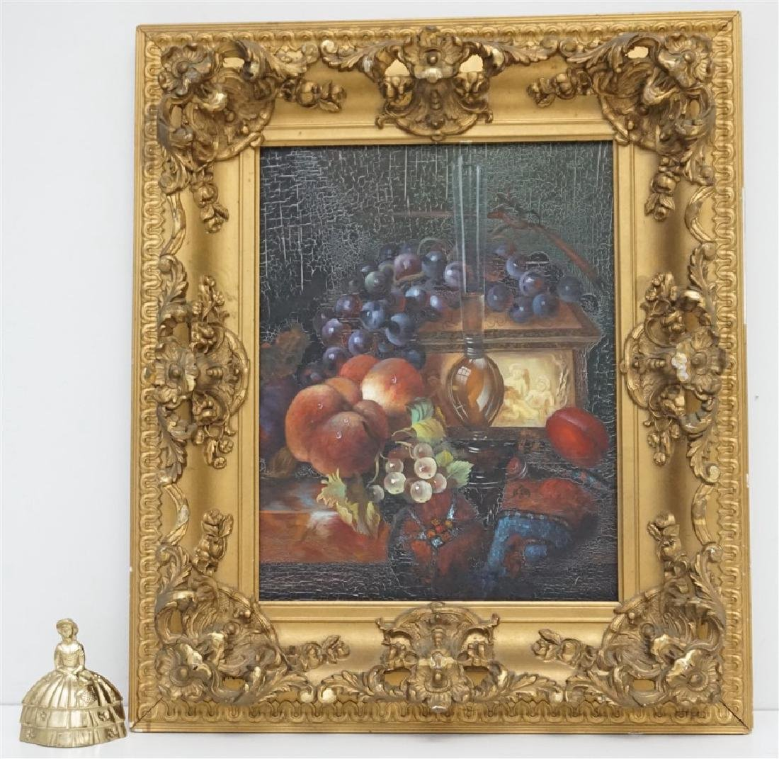 OIL ON CANVAS STILL LIFE FRAMED - 8