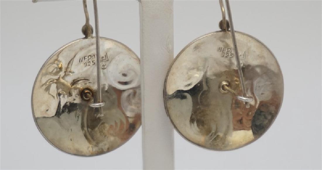 3 PAIR STERLING SILVER EARRINGS - 4