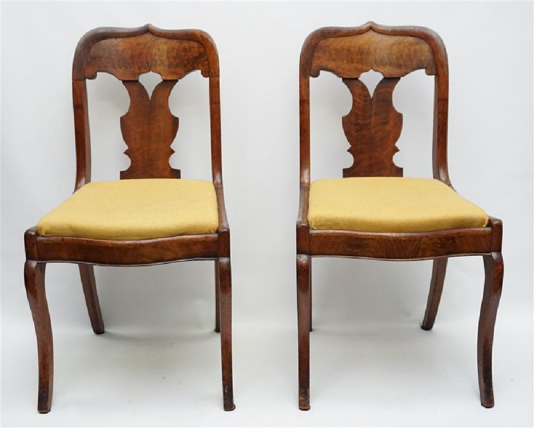 PAIR 19TH C. GOTHIC REVIVAL SIDE CHAIRS
