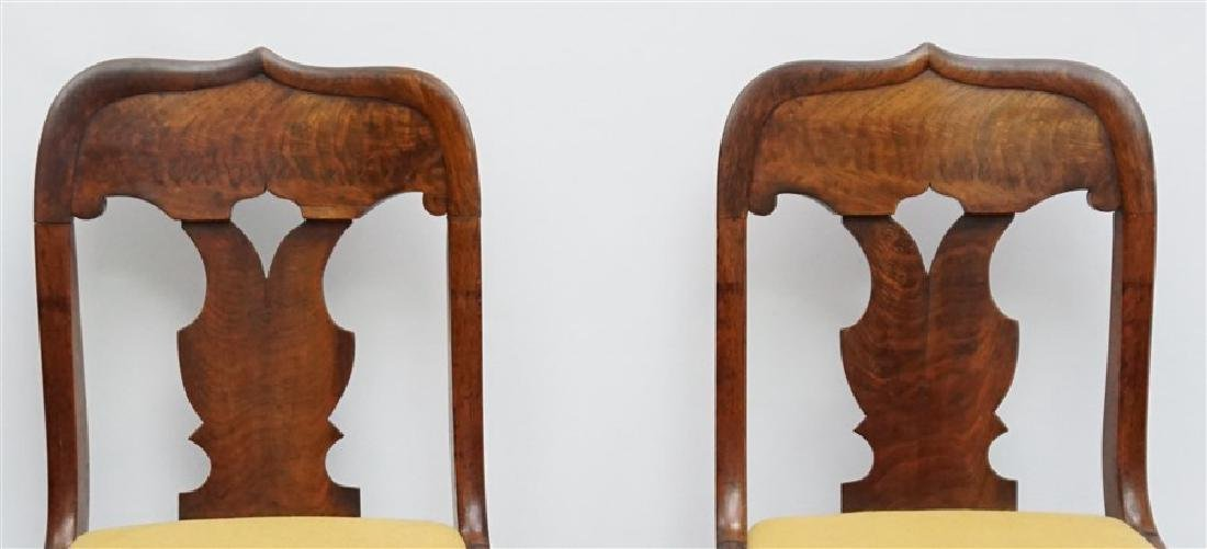 PAIR 19TH C. GOTHIC REVIVAL SIDE CHAIRS - 2