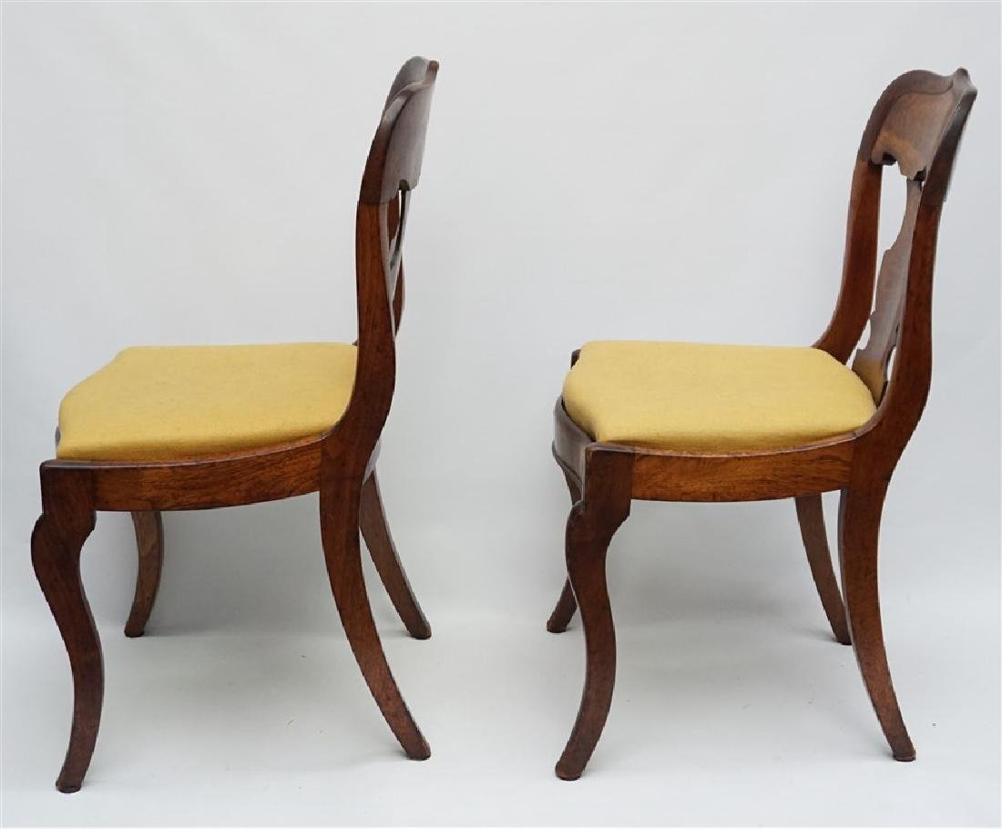 PAIR 19TH C. GOTHIC REVIVAL SIDE CHAIRS - 3