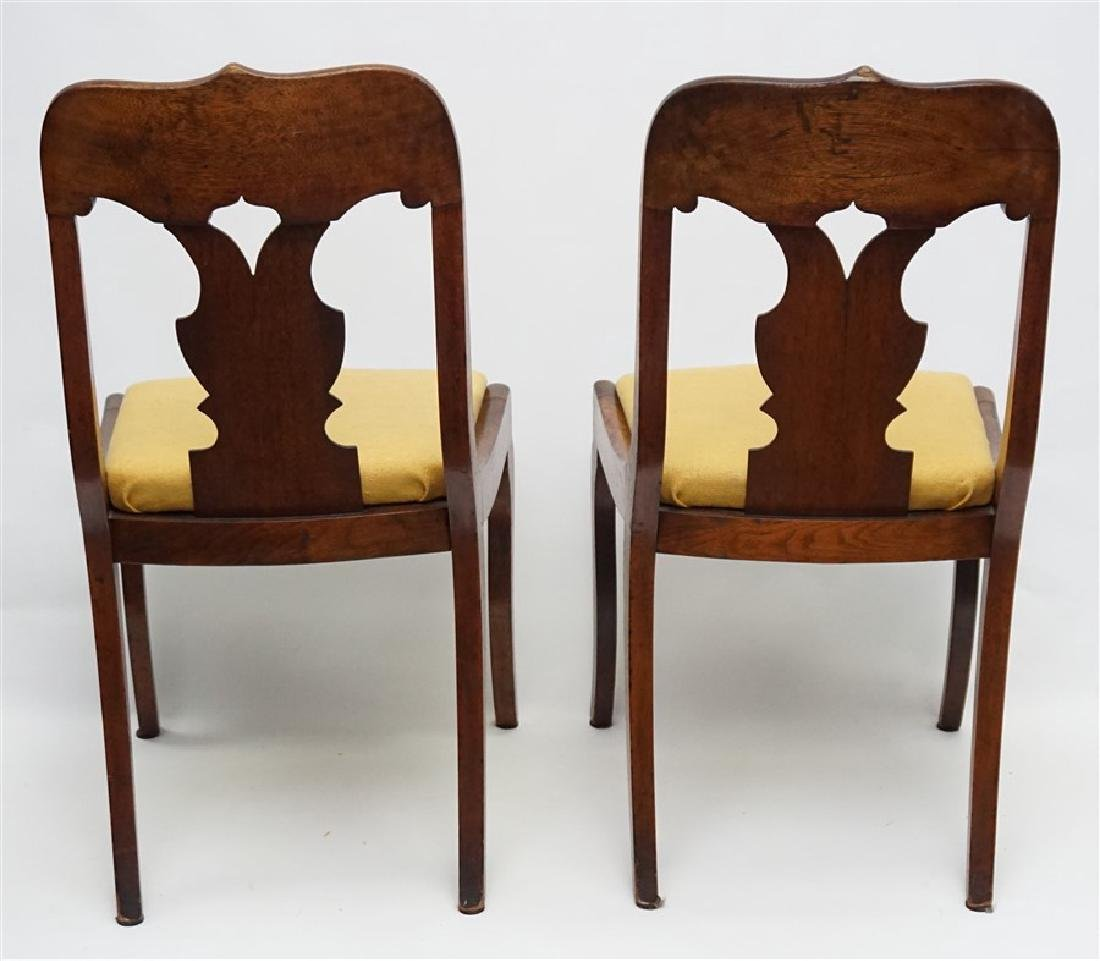 PAIR 19TH C. GOTHIC REVIVAL SIDE CHAIRS - 4