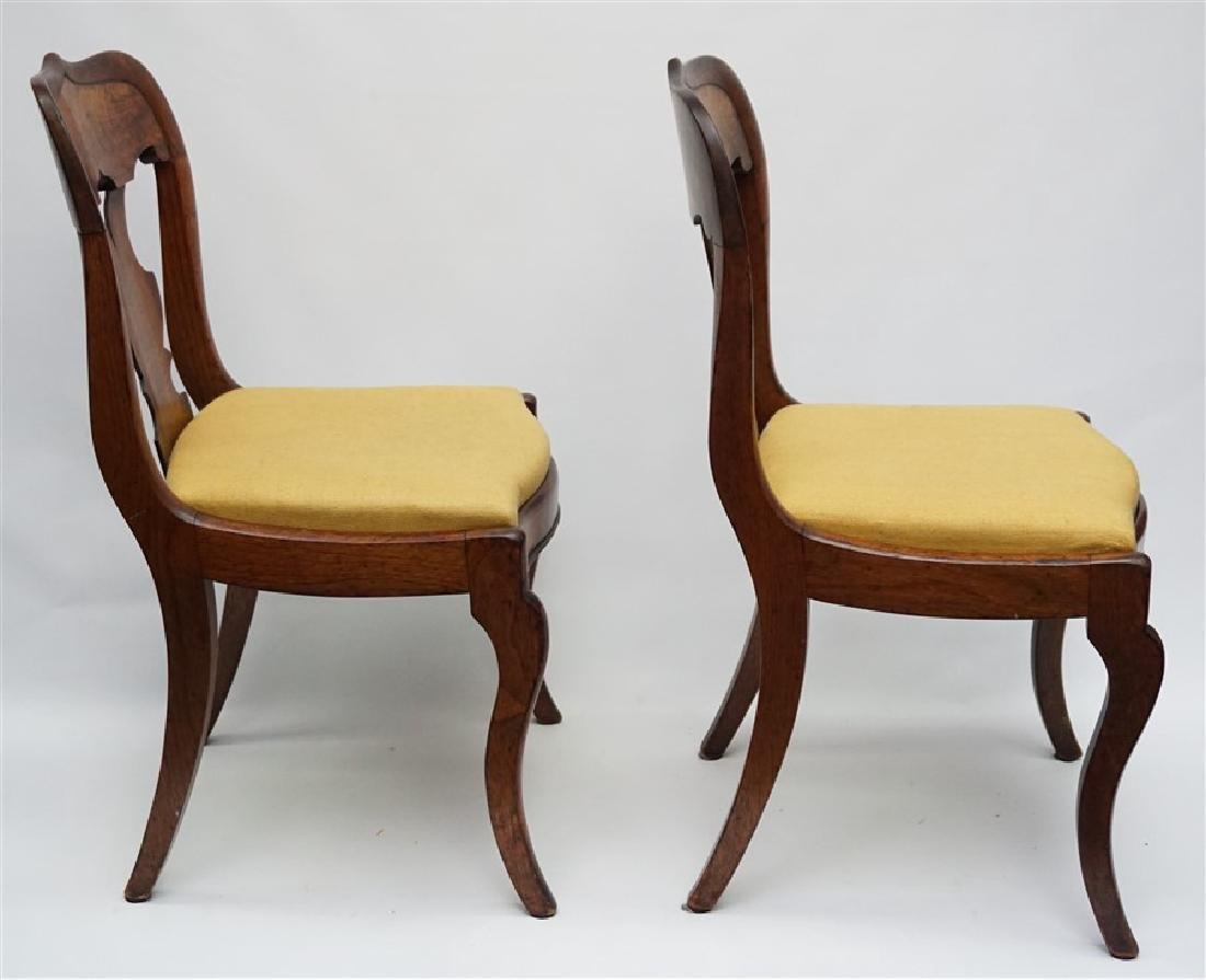 PAIR 19TH C. GOTHIC REVIVAL SIDE CHAIRS - 5