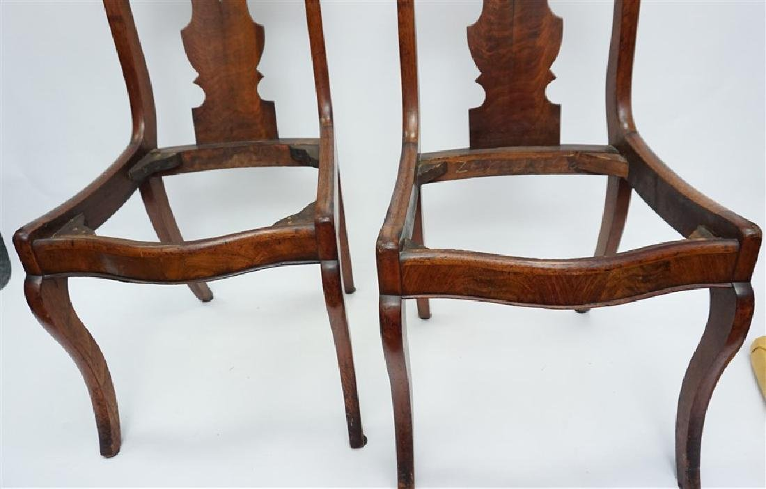 PAIR 19TH C. GOTHIC REVIVAL SIDE CHAIRS - 8