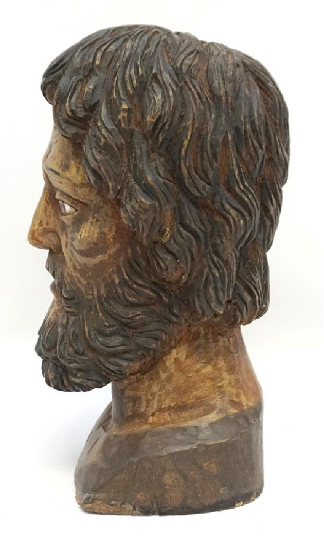 LARGE SPANISH COLONIAL BUST SAN PEDRO - 4