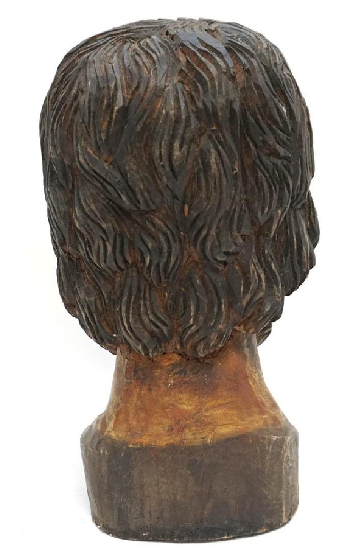 LARGE SPANISH COLONIAL BUST SAN PEDRO - 5