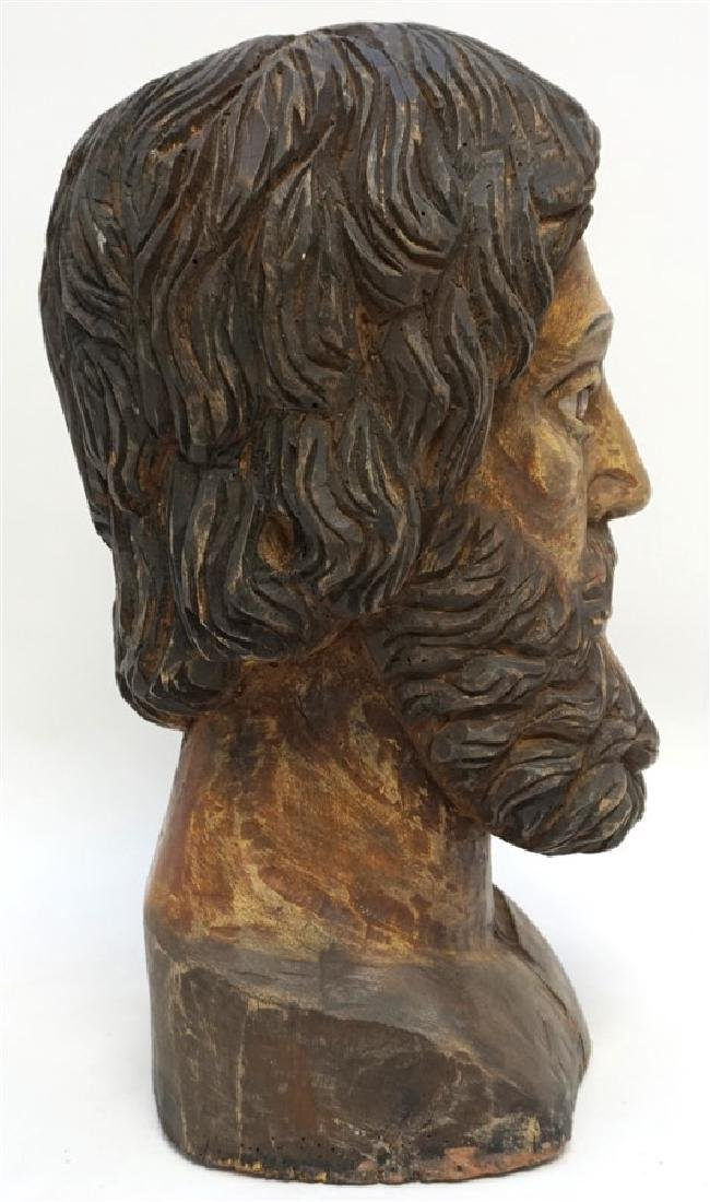 LARGE SPANISH COLONIAL BUST SAN PEDRO - 6