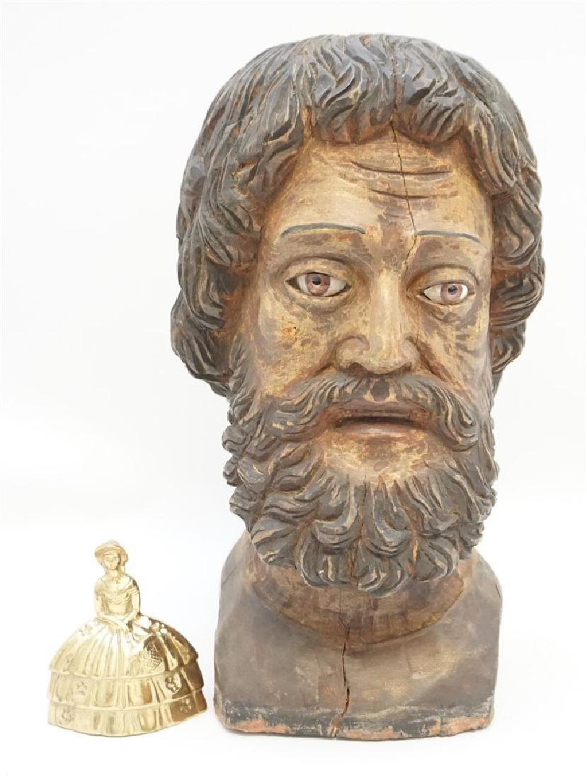 LARGE SPANISH COLONIAL BUST SAN PEDRO - 8
