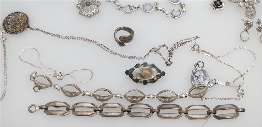 LARGE LOT STERLING SILVER VINTAGE JEWELRY - 2
