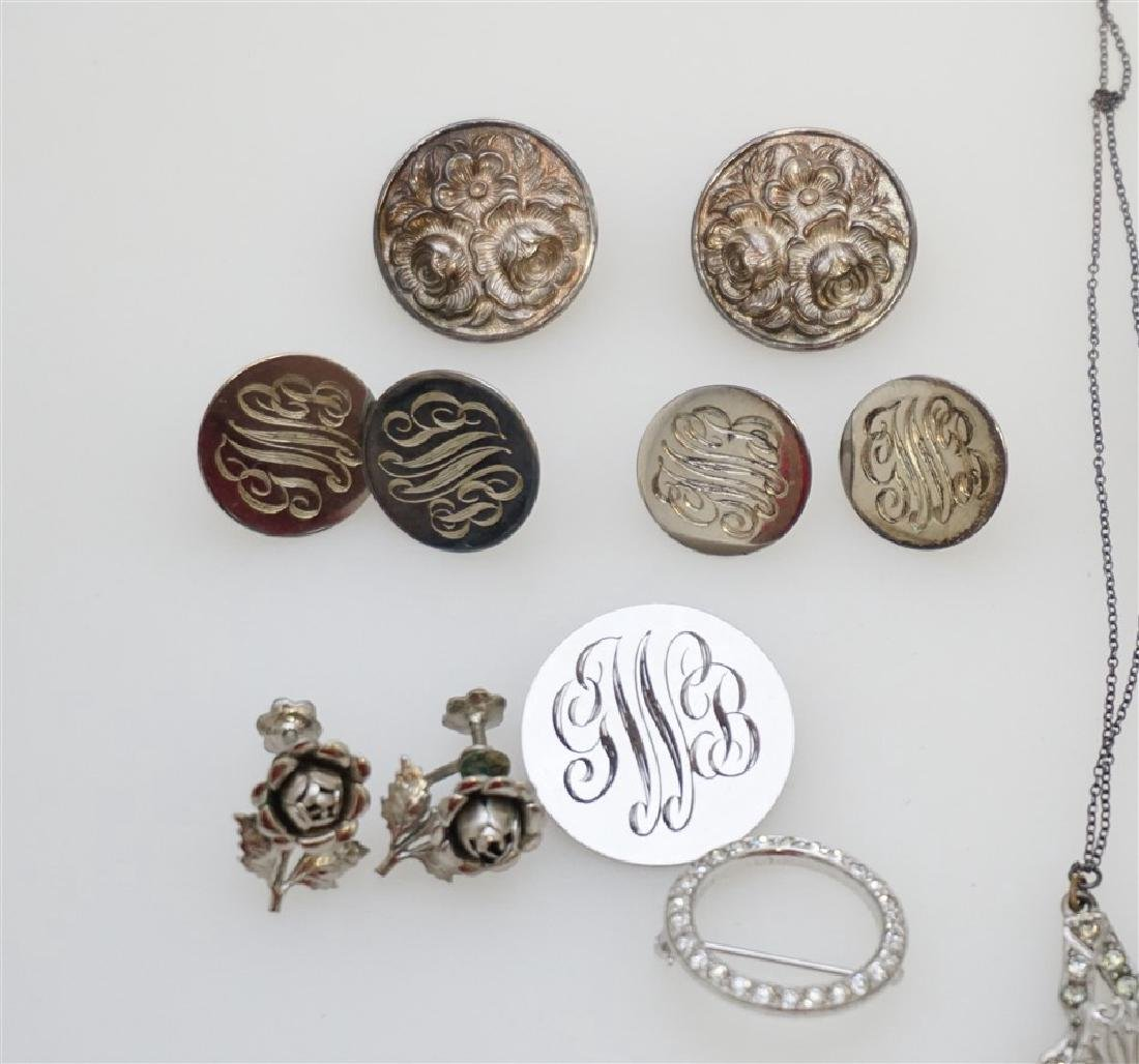 LARGE LOT STERLING SILVER VINTAGE JEWELRY - 6