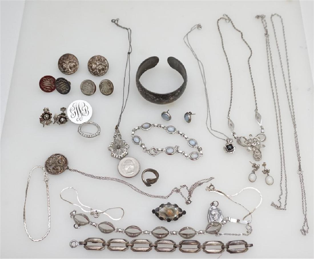LARGE LOT STERLING SILVER VINTAGE JEWELRY - 8