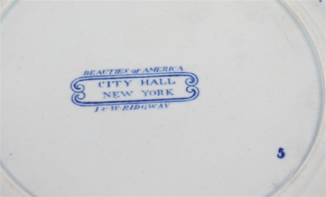 ANTIQUE RIDGWAY PLATE CITY HALL NEW YORK - 7