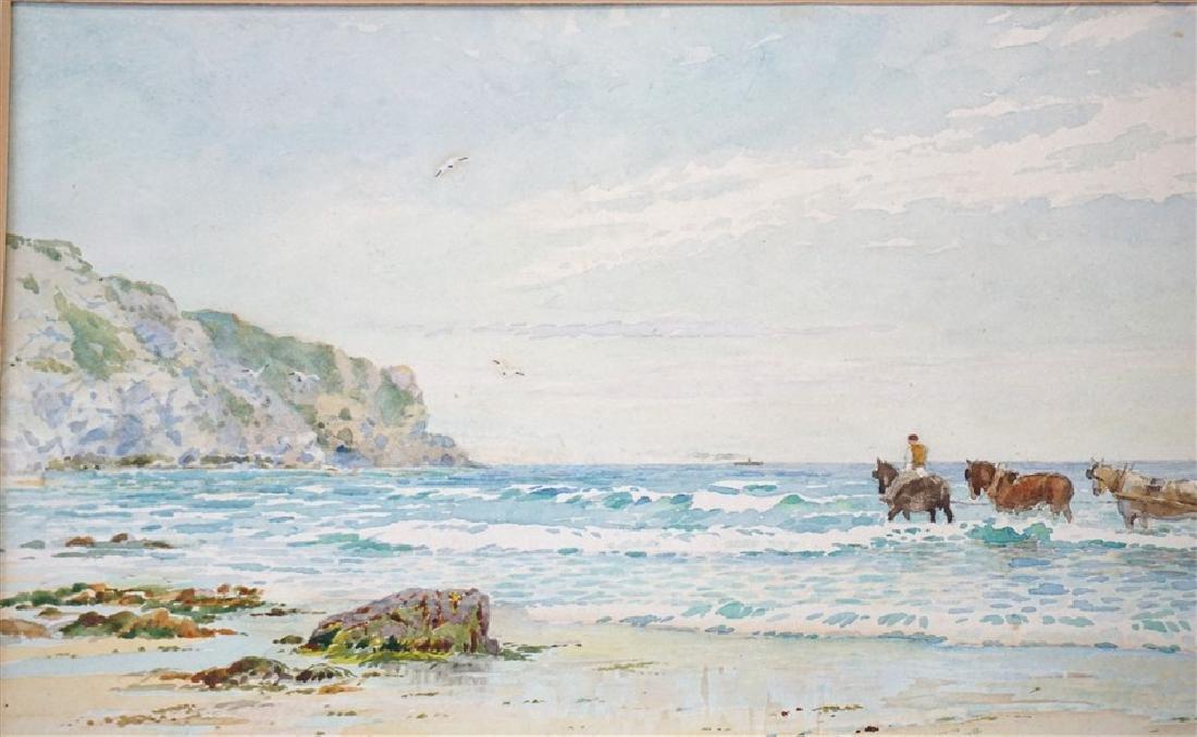 C.J. BARRAUD 19th c COASTAL WATERCOLOR - 4