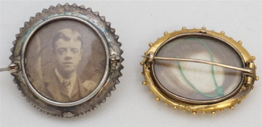 2 VICTORIAN 19th c MOURNING BROOCHES - 7
