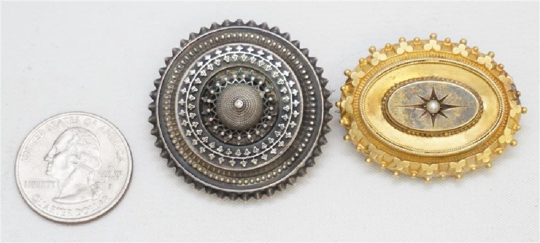 2 VICTORIAN 19th c MOURNING BROOCHES - 8