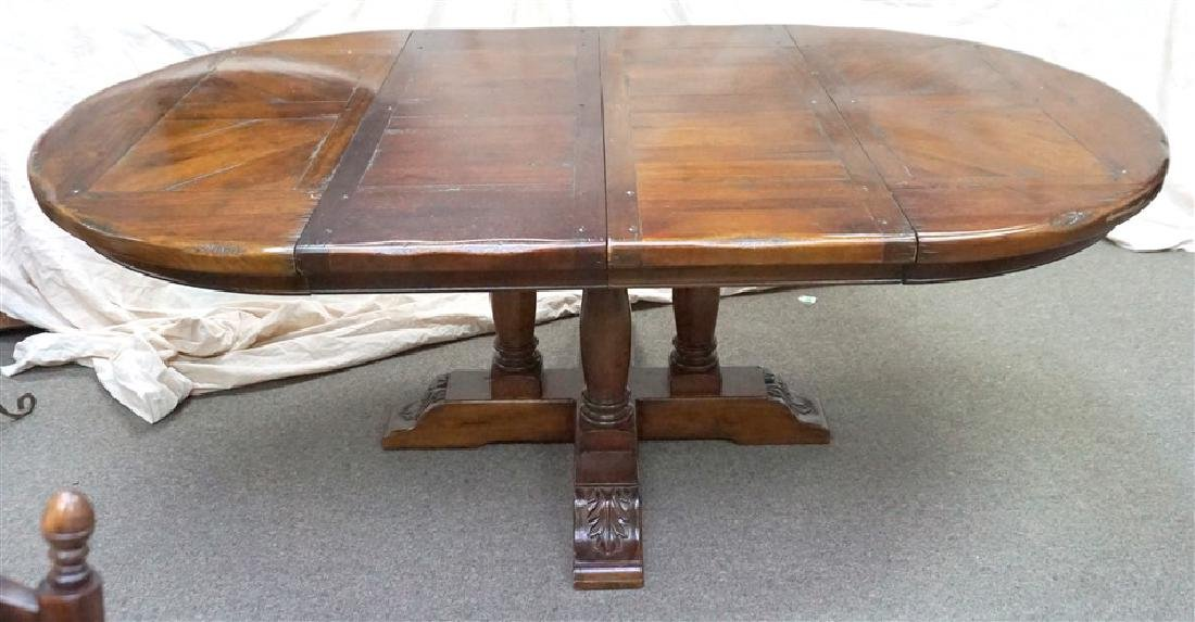 SOLID WALNUT RUSTIC DINING ROOM TABLE