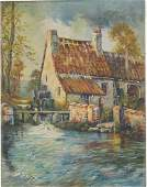 OLD MILL SIGNED G.A.  ALDRICH
