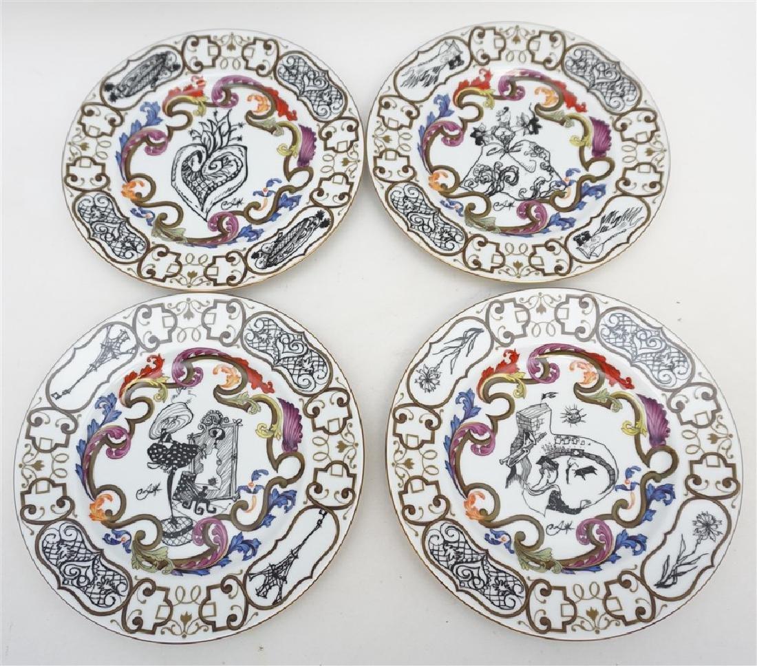 4 CHRISTIAN LACROIX ART DE LA TABLE SOUVENIR PLATES