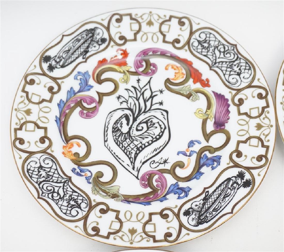 4 CHRISTIAN LACROIX ART DE LA TABLE SOUVENIR PLATES - 2
