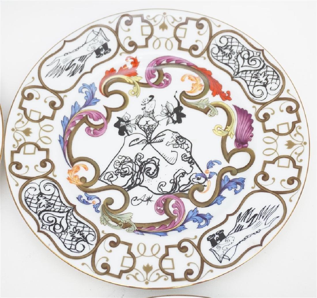 4 CHRISTIAN LACROIX ART DE LA TABLE SOUVENIR PLATES - 3