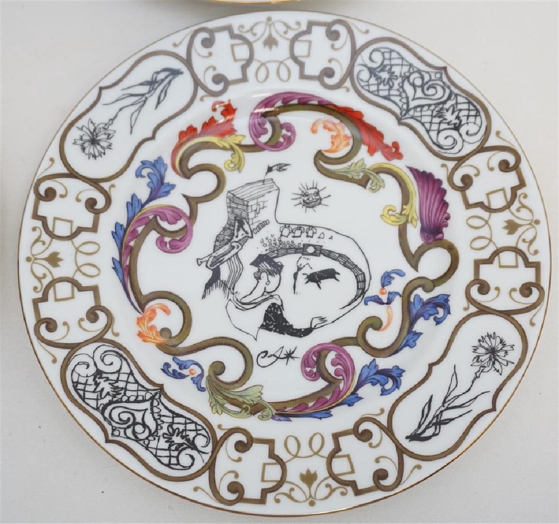 4 CHRISTIAN LACROIX ART DE LA TABLE SOUVENIR PLATES - 4