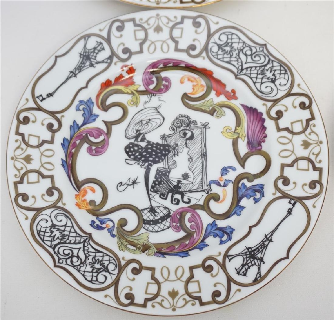 4 CHRISTIAN LACROIX ART DE LA TABLE SOUVENIR PLATES - 5